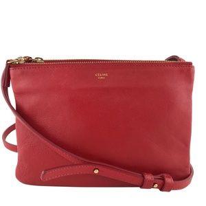 Celine Lambskin Leather Trio Crossbody Bag